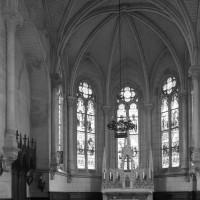 L'intérieur de la chapelle vu vers le nord-est (1996)