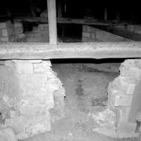 Vestiges de la souche du clocher octogonal dans les combles (1992)