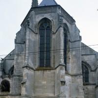 Le chevet de l'église vue du nord-est (1995)