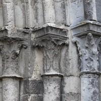 Les chapiteaux des piédroits de droite du portail ouest (2018)