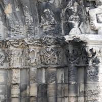 Les chapiteaux des piédroits de droite du portail ouest (2015)