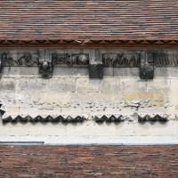 Vue partielle du mur gouttereau sud de la nef (2015)