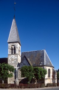 Le clocher et le choeur vus du sud (1996)