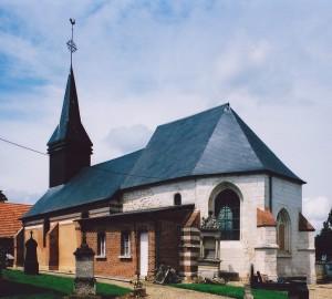 L'église vue du sud-est (2003)