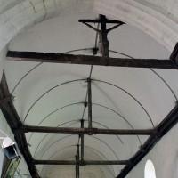 La charpente de la nef vue vers l'ouest (2002)