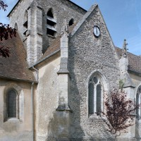 Le bras sud du transept et le clocher vus du sud-ouest (2002)