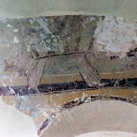 Reste de fresque dans la travée du clocher (2001)