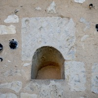 Le linteau de l'ancienne fenêtre romane au nord de la nef (2016)