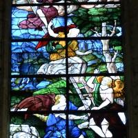 Vitrail du 16ème siècle de l'Echelle de Jacob à la fenêtre axiale de l'abside (2016)