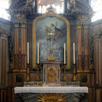 L'autel-retable de la chapelle axiale ou chapelle de la Vierge (2016)