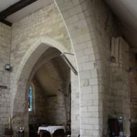 Vue partielle des parties orientales de l'église vers le sud-ouest (2016)