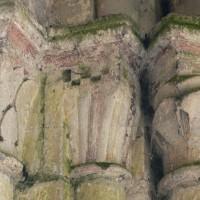 Chapiteau à godrons au bras sud du transept (2018)
