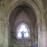 La chapelle nord du choeur vue vers l'est (2018)