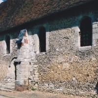 Le mur sud de la nef vu du sud-est (2003)