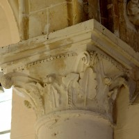 Chapiteau de l'arcade sud de la nef au revers du mur de façade (2016)