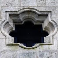 L'oculus quadrilobé du mur-pignon de la façade (2016)