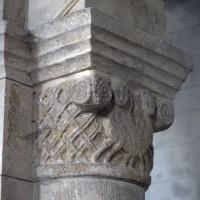 Chapiteau de la seconde arcade du mur nord de la nef (2017)