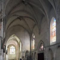 Le bas-côté sud de la nef vu vers le sud-est (2017)