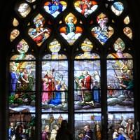 Vitrail de la fenêtre est du choeur dédié à saint Germain, patron de l'église (2017)
