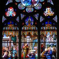 Vitrail de la fenêtre est de la chapelle nord (2017)