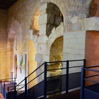 L'accès à la Basse-Oeuvre depuis la cathédrale (2015)