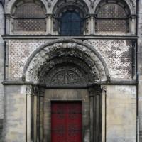 Le portail nord de la nef vu depuis le nord (2015)