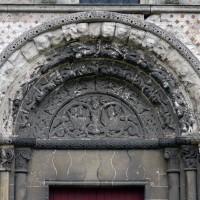 Vue partielle du portail nord de la nef (2015)