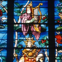 Détail du vitrail de l'Arbre de Jessé (1997)