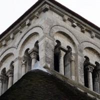 Le second étage du clocher vu du nord-ouest (2016)