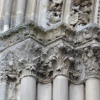Chapiteaux des piédroits de gauche du portail ouest (2015)
