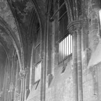 Elévation partielle du mur gouttereau nord de la nef vers le nord-ouest (1974)