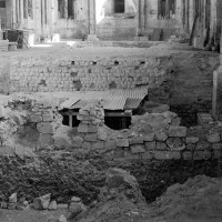 Vue partielle des fouilles vers l'est (1974)