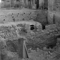 Vue partielle des fouilles vers le sud-est (1974)