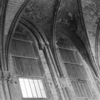 Elévation partielle du mur gouttereau nord de la nef vers le nord (1974)