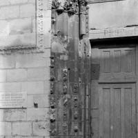 Les piédroits de gauche du portail ouest (1974)