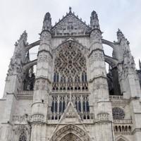 Les parties supérieures de la façade du bras sud du transept (2015)