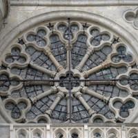 La rose du bas-côté est du transept vue du sud (2015)