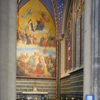 Vue partielle du bas-côté est du bras sud du transept vers l'est (2015)