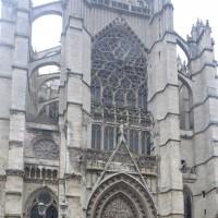 La façade du bras nord du transept (2015)