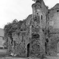 Les vestiges de la chapelle vues vers l'ouest (1980)