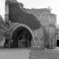 L'entrée du palais et la tribune de la chapelle vues vers le nord (1980)