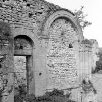 Le mur nord de la tribune de la chapelle (1980)