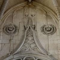 Partie supérieure de l'entrée de la chapelle de la Vierge (2016)