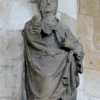 Chapelle de la Vierge : statue d'évêque (saint Martin ?) (2016)