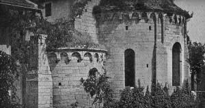 Le chevet vu du sud-est (photo René Parmentier, vers 1905)