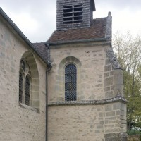 Vue partielle de la nef et de la chapelle sud depuis le sud-ouest (2016)