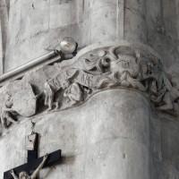 Frise sculptée à la pile nord-ouest de la croisée du transept (2016)