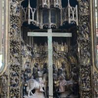 Détail du retable : la Crucifixion (2016)