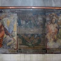 Scènes du Chemin de Croix peintes au mur nord de la nef (2016)