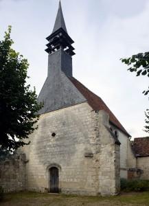Le choeur de l'ancienne église vu du nord-ouest (2016)